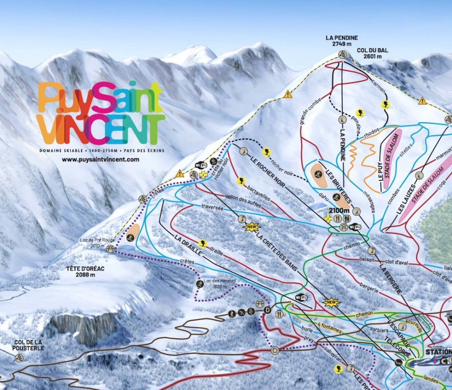 Puy Saint Vincent Ski Map Our Playground